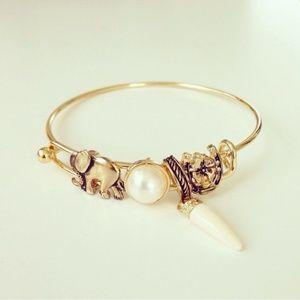 Elephant horn bracelet